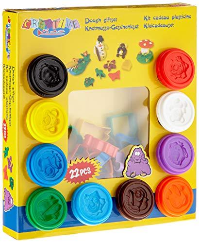 Kinder Knete Knetmasse Set 10 x 55g (22tlg) Kinderknete Modeliermasse Softknete