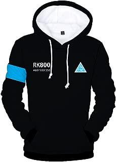 Become Human Hoodie 3D Printed Hooded Pullover Sweatshirt Copslay Jacket Cap T-Shirt Wig