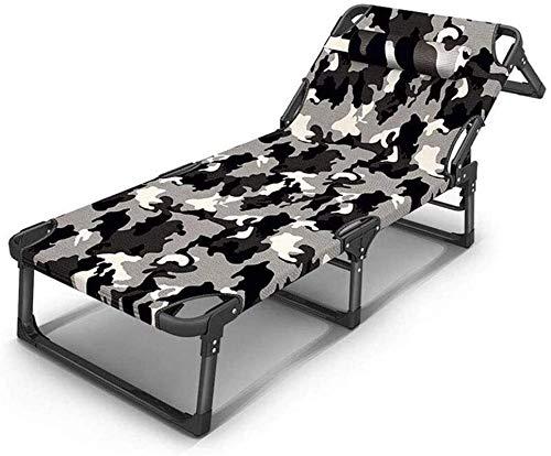 DFANCE Sillón reclinable ligero y plegable, para jardín, jardín, patio, para invitados, silla reclinable (color : B) (color: A)