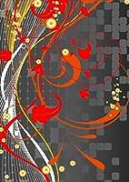 igsticker ポスター ウォールステッカー シール式ステッカー 飾り 1030×1456㎜ B0 写真 フォト 壁 インテリア おしゃれ 剥がせる wall sticker poster 008041 クール 植物 赤 レッド デザイン
