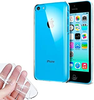 9e14412ac7a TBOC® Funda de Gel TPU Transparente para Apple iPhone 5C de Silicona  Ultrafina y Flexible