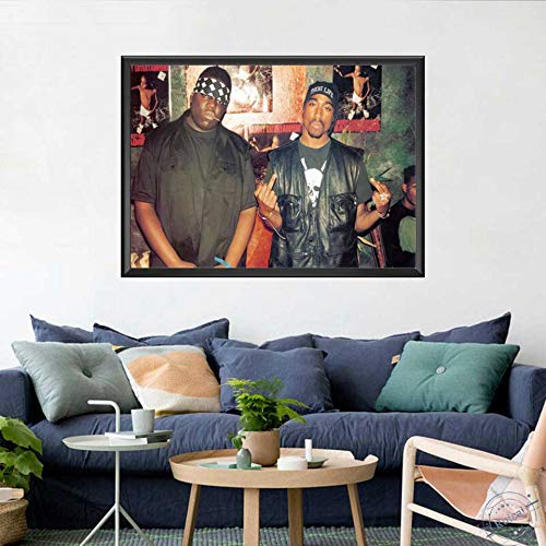 KWzEQ Musiksänger-Sternplakat und Druckkunstwandbild Moderne Hauptdekoration,Rahmenlose Malerei,40X60cm