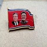 北朝鮮の金日成キム・ジョンイル北朝鮮のバッジピン