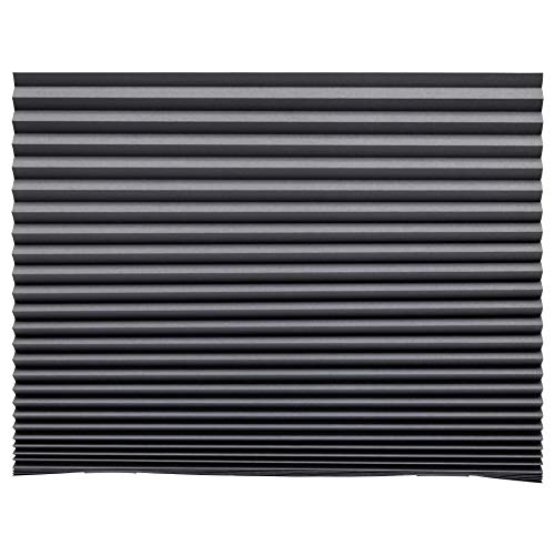 IKEA SCHOTTIS Faltjalousie in dunkelgrau; verdunkelnd; (100x190cm)
