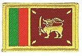 Flaggen Aufnäher Sri Lanka Fahne Patch + gratis Aufkleber,