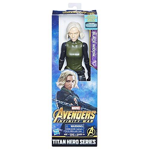 Marvel Infinity Guerra Titan Hero Serie Black Widow con porta Titan Hero Power FX