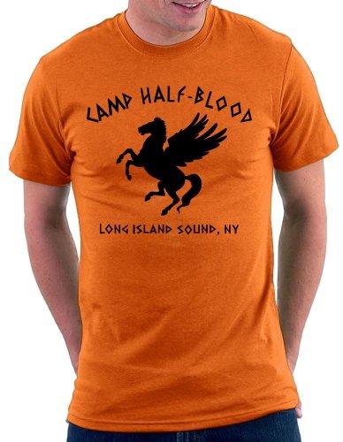 Camp Halfblood T-shirt, Größe M, Orange