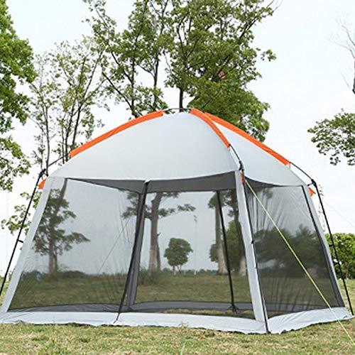 KAR Zelt, Netto Hochwertige Doppelschicht 5-8Person Familienfest Gardon Strand Camping Zelt Pavillon Sonneschutz Pergola Moskito,A