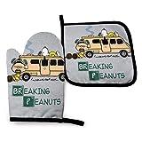 COOL-SHOW Breaking Bad Peanuts Rv - Guantes de horno y soportes para ollas resistentes al calor Guantes de cocina