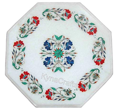 15 x 15 Inches Hand Made Coffee Table Top Pietra Dura Art End Table Top from Indian Crafts