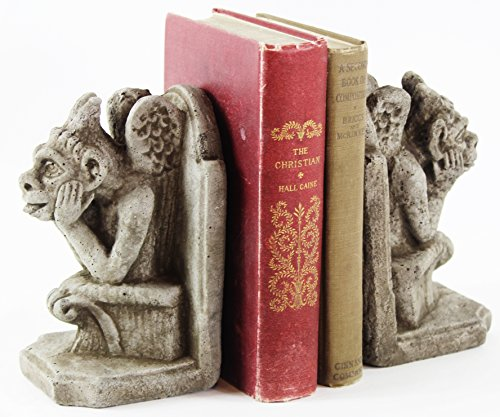 Fleur de Lis Garden Ornaments LLC Gargoyle Bookends Concrete French Book Holders