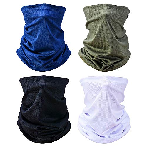 Zorara Pañuelo multifunción, 4 unidades, bufanda, protector bucal, pañuelo para el cuello, pañuelo para el cuello, pañuelo para el cuello, pañuelo para el cuello, pañuelo fino, elástico para hombre y mujer