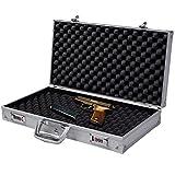 COSTWAY Malette Pistolet en Aluminium Valise à Pistolet avec Serrure à Combinaison 47x25x8,3cm