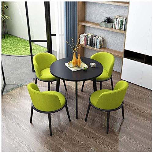 KEKOR Moderne Minimalistische Holz Round Table Outdoor Leisure Entertainment Büro-Aufnahme 80cm Kreative Anzeige Wohnzimmer Study Schlafzimmer Küche Esstisch (Color : Black+Yellow)