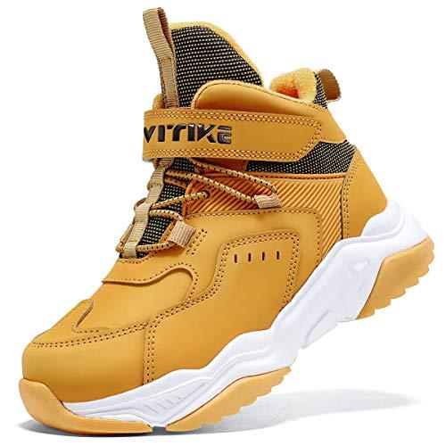 Botas de Senderismo Botas de Nieve Zapatos de Senderismo para Niños(8 Amarillo,36 EU)