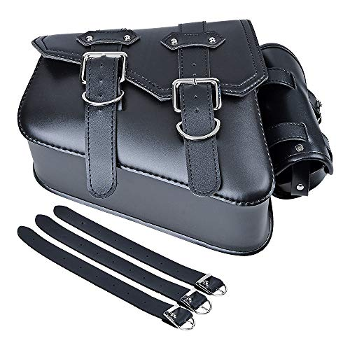 Motorcycle Solo Saddle Bag + Pannier Storage Compatible with Harley Sportster XL883 XL1200 (Left Side)