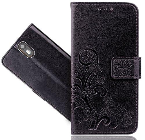 Wileyfox Storm 4G Handy Tasche, FoneExpert® Blume Wallet Hülle Flip Cover Hüllen Etui Hülle Ledertasche Lederhülle Schutzhülle Für Wileyfox Storm 4G