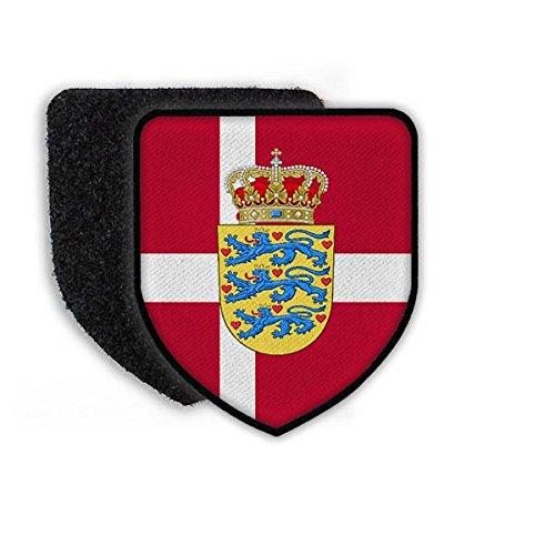 Copytec Patch Dänemark Kopenhagen König Landeswappen Fahne Ehre Löwe Rot Weiss Landesflagge Flagge Wappenzeichen#21931