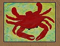 Red Crab フロアマット 36 x 60 レッド