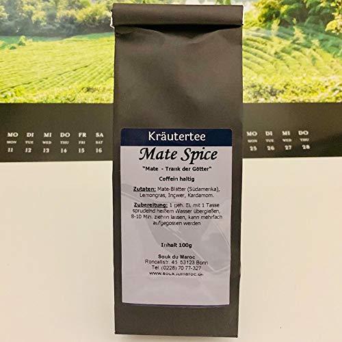 Kräutertee Kräuter Tee Mate Spice isotonisch Mischung ✔ Tea Chay Chai lose ✔ Teemischung ✔ ohne Zusatzstoffe, Aromastoffe & Konservierungsstoffe, 100g