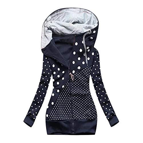 Xmiral Kapuzenjacke für Damen Reißverschluss Sweatshirt Mantel mit Kapuzen Slim Fit...