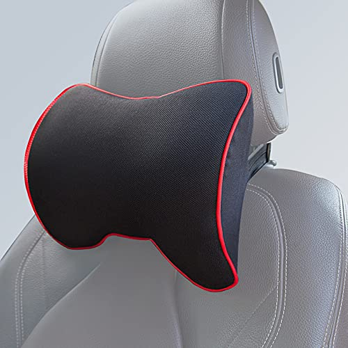 Espuma Viscoelástica Soporte del Cuello de Conducción - ZATTOO Para el Conductor o el Vehículo de Pasajeros Reposacabezas Coche, Lavable, Cómodo, Suave y Transpirable (negro)