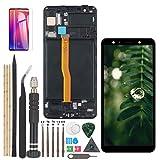 RongZy AMOLED Pantalla para Samsung Galaxy A7 (2018) A750 A750FN Pantalla Táctil LCD Kit de Pantalla de Repuesto Ensamblaje Digitalizador de Reemplazo con Herramientas(Negro con Marco)