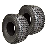 Two New 11x4.00-5 Lawn Tractor Tires 11x400-5 Turf Tires Tubeless Lawn Mower Tires