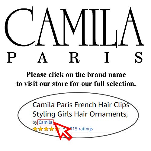 Camila Paris AD821 French Hair Barrettes Clips for Girls, Tortoise Shell Strong Hold Grip, No Slip and Durable Cellulose…