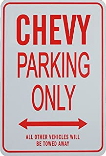 CHEVY PARKING ONLY - Miniature Fun Parking Sign