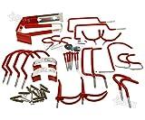 Generic Tools Haken-Set Garten Garten Schläuche Aufbewahrung Haken rden H Set 30Stück rot torage Schläuche DIY Tools Haken E Fahrrad Stor Garage Fahrrad