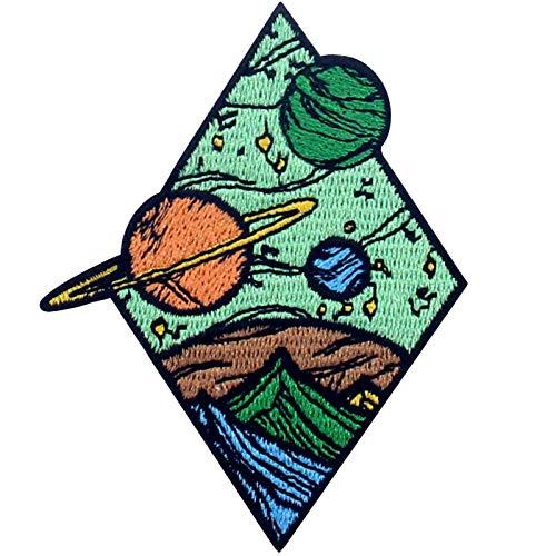 Parche termoadhesivo para la ropa, diseño de Universo Diamante Planetas Espaciales