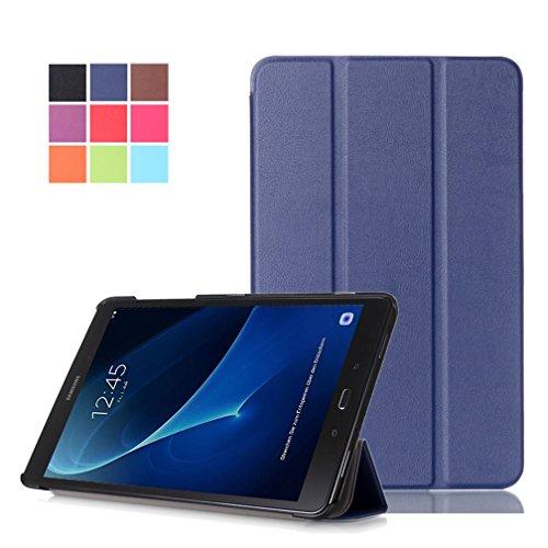 """tablet samsung galaxy tab a t585 DETUOSI Custodia per Samsung Galaxy Tab A6 10.1"""" (SM-T580 / T585) Tablet  PU Pelle Case Cover Custodia con Supporto"""