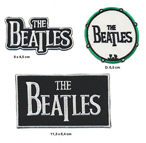 The Beatles parche para planchar Patch 3pieza Rock Pop Kult England Turbo Envío