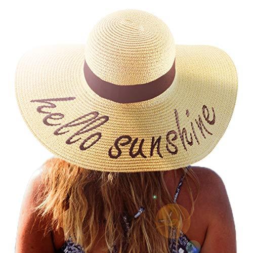 Summer Women Straw Hat, Floppy Wide Brim Sun Hats, Bride Honeymoon Beach Party