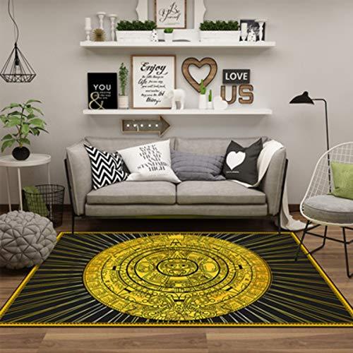 juan Personalidad De La Alfombra Creativo Amarillo Sun Totem Pad Minimalista Moderno Sala De Estar Mesa De Centro Antideslizante Geométrica Decoración del Estudio del Hogar 200 Cm * 300 Cm