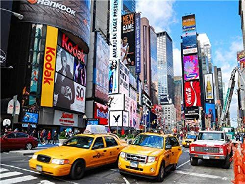 Pintar Por Numeros Adultos 40x50cm Paisaje Urbano De Nueva York DIY Pintura Oleo Manualidades Adultos Pinturas Para Niños Pintura Acrilica Incluir Pinceles Cuadros Decoracion Salon Modernos Sin Marco