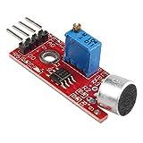HALJIA micrófono de Alta sensibilidad, módulo Sensor de detección de Sonido de Voz Compatible con Arduino Raspberry Pi AVR PIC