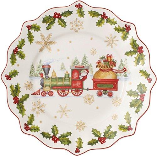Villeroy & Boch 14-8626-2640 Assiette de l'AnnéeAnnual Christmas Edition Arts de la Table de Noël Porcelaine Multicolore 25,5 x 3,2 x 25,5 cm