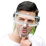 DUTUI Máscara Transparente, La Unidad Completa Protección De La Cara, Salpicaduras Y Polvo, Molienda Anti-Impacto, Cocina Transparente Máscaras De Protección, Anti Aerosol