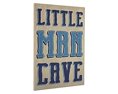Elegant Signs Toddler Boys Room Wall Decor Art for Kids Bedroom - Lil Man Cave Wood Sign