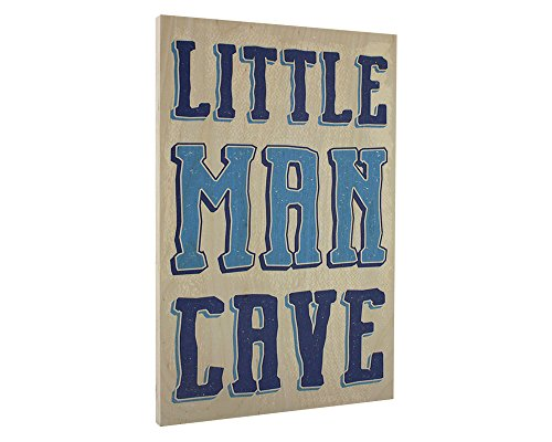 Elegant Signs Toddler Boys Room Wall Decor Art for Kids Bedroom - Lil Man Cave Wood Sign