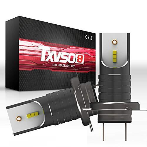 TXVSO 110W 12000LM H7 Kit faro LED per auto 6000K bianco Lampade, adatto per tutte le auto H7, 55W / Lampadina, 2 pz/set