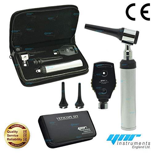 Ynr England Vetscope LED Veterinario Otoscopio Oftalmoscopio Ent Set Veterinario Diagnóstico Veterinarios...