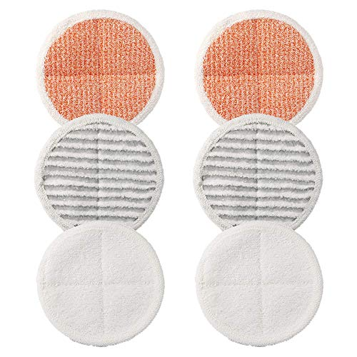 6 Pack Replacement Pads for Bissell Spinwave 2124,2039A,2307,23157,20391,20399 Powered Hard Floor Mop