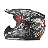 Moto Motocross Casco Uomo Batteria Auto Pirata Scheletro Casco Mountain Bike Full Cycle Casco