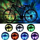 ShinePick Bike Wheel Lights, Rechargeable Rim Lights Colorful Safety Warning Light Bike Spoke Decoration, 2 Tire Pack for Both Adults Kids Bike