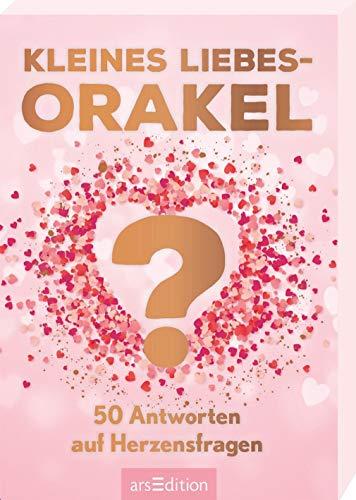 Kleines Liebesorakel. 50 Antworten auf Herzensfragen: Schön gestaltete Orakelkarten in Geschenkbox, Spielkartenformat
