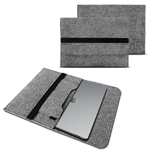 NAUC Sleeve Case Compatible with Microsoft Surface Pro 7 Netbook Ultrabook 12.3 Inch Laptop Felt Case Laptop Bag Protective Bag Colour: Grey