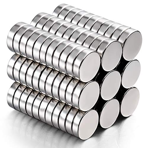 DIYMAG Refrigerator Magnets,100Pcs 10x3mm Premium Brushed Nickel Small Round Cylinder Fridge Magnet, Office Magnets, Whiteboard Magnets